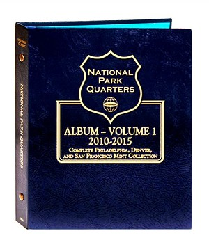 Whitman National Park Quarter P/D/S Volume 1 Coins from 2010-2015
