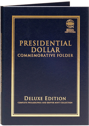 "Whitman Presidential Dollar Commemorative Folder Deluxe Edition ""P"" & ""D"" Mints"