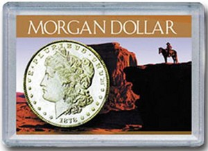"H. E. Harris Frosty Case 2"" x 3""  Morgan Dollar Holder - Sunset Design"