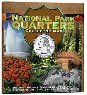 Whitman National Park Quarters Collector Map