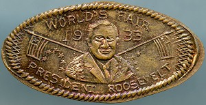 World's Fair Elongated Cent - President Roosevelt