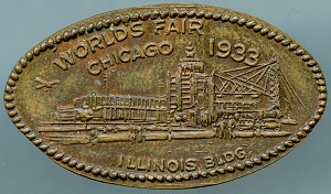World's Fair Elongated Cent - Illinois Building