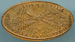 World's Fair Elongated Cent - The Avenue of Flags