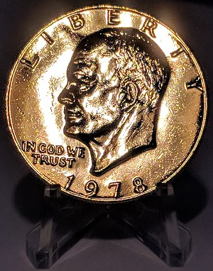 24K Gold Plated Eisenhower Dollar