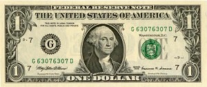 Repeating Serial Number $1.00 Federal Reserve Note