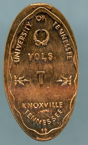 Elongated Cent - University of Tennessee  VOLS