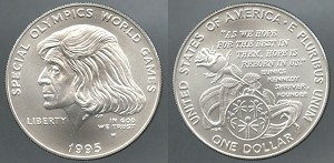 1995-W Special Olympic World Games Commemorative Silver Dollar - Uncirculated
