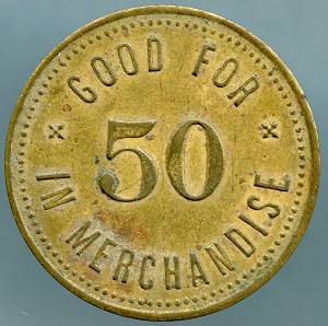 Good For 50 in Merchandise - Blank Reverse