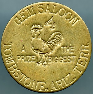 Gem Saloon Tombstone, Ariz Terr - Brothel Token