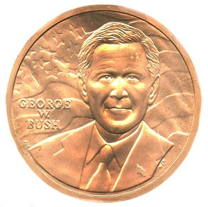 George W. Bush (First Term) Bronze Medal