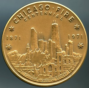 1871 - 1971 Chicago Fire Centennial Medal