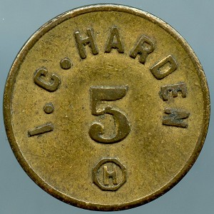 1909 I.C. HARDEN INGLE SYSTEM Merchant Good for Token