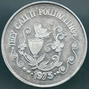 1975 They call it Pollinating, Algiers Lower Coasters Mardi Gras Doubloon