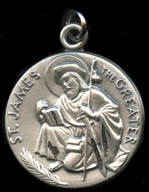 Saint James Religious Pendant Sterling Silver