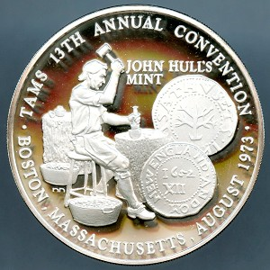 TAMS 13th Annual convention Medal Boston Massachusetts 1973 Sterling Medal