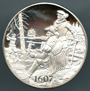 1971 American Heritage Treasures of American History Settlement at Jamestown Franklin Mint Sterling