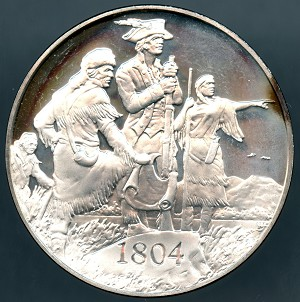 1971 American Heritage Treasures of American History Lewis and Clark Franklin Mint Sterling