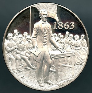 1971 American Heritage Treasures of American History Lincoln's Gettysburg Address Franklin Mint Sterling