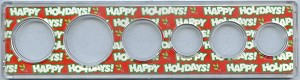 Snap Together Coin Holder Happy Holidays - 6 Coin - Small Dollar 26.5mm