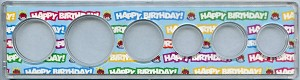 Snap Together Coin Holder Happy Birthday - 6 Coin - Small Dollar 26.5mm