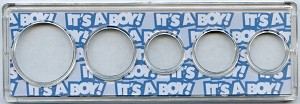 Snap Together Coin Holder It's A Boy! - 5 Coin