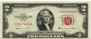 $2.00 Legal Tender Series 1953 B - *02979638A, F1511 Star, CH AU