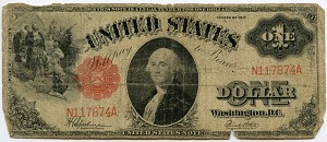 $1.00 U.S. Note (Legal Tender) Series 1917 - N117874A, F39, Rag