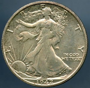 1942 S Walking Half Dollar B.U. MS-60