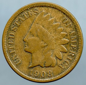 1908 S Indian Cent- Almost Fine