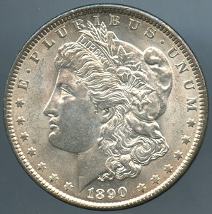 1890 Morgan Dollar Choice B.U. MS-63