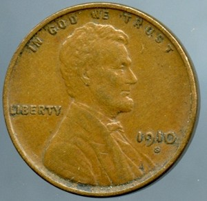 1910 S Lincoln Cent Choice XF-45