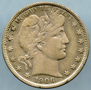 1906 Barber Half Dollar VF-20