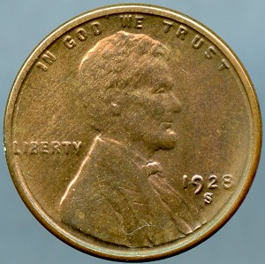 1928 S Lincoln Cent Choice B.U. MS-63