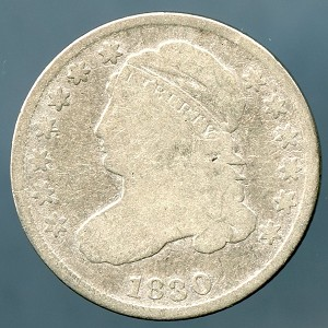 1830 Bust Dime Good - Cleaned