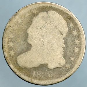 1836 Bust Dime About Good