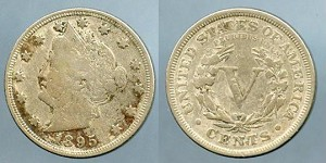 1895 Liberty Nickel Fine