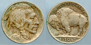 1915-S Buffalo Nickel VF-20