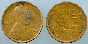 1910 S Lincoln Cent Very Fine
