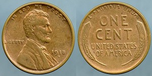 1918-D Lincoln Cent XF+