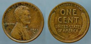 1911 D Lincoln Cent VF