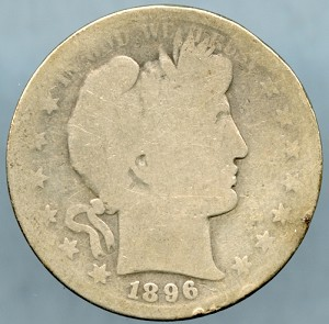 1896-S Barber Half Dollar About Good