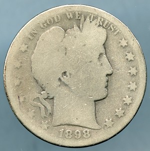 1898 S Barber Half Dollar Good