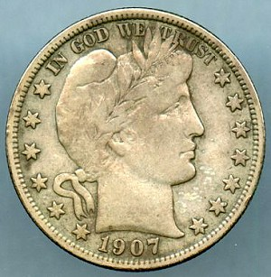 1907 Barber Half Dollar VF-20