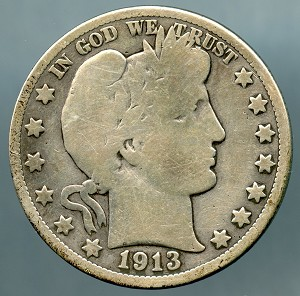 1913 Barber Half Dollar About Good