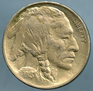 1913 T1 Buffalo Nickel XF-40