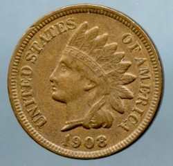 1908 S Indian Cent XF-40 - Cleaned