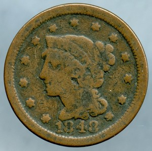 1848 Large Cent Good