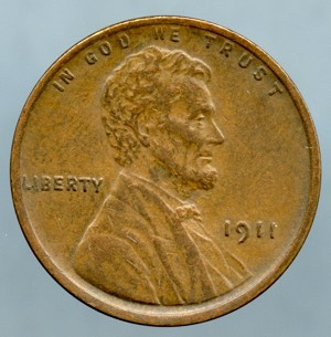 1911 Lincoln Cent XF-45