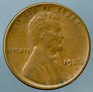1926 S Lincoln Cent XF-40