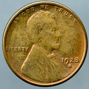 1928 S Lincoln Cent MS-60